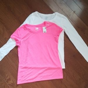 Justice TShirts White & Pink Girls Size 16